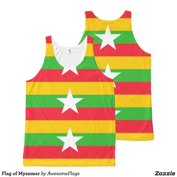 Flag of Myanmar All-Over Print Tank Top