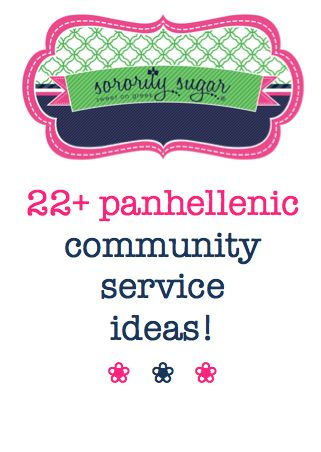 community service project ideas for sororities