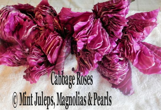 CABBAGE ROSES for Salads, Sandwich Trays, etc. @ Mint Juleps, Magnolias & Pearls Blog: