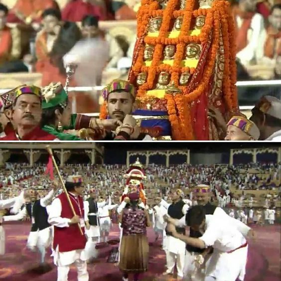 A Glimpse of the Himachali Nati at  #WorldCultureFestival - Bringing us close to mother nature with music & dance!  #WCF2016 #NewDelhi #culture #festival #music #dance #nature #himachal #traditional by wcf2016