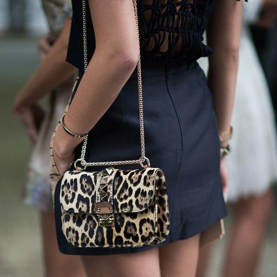 Leopard Print Pony Flap Handbag by Valentino