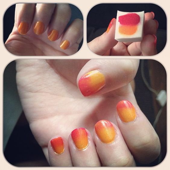 Must try this (this is my friend @Monica Danna's awesome nails)...