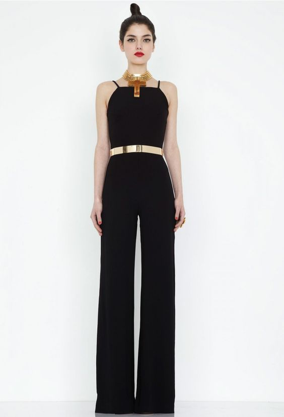 Divine Black Wide Leg Jumpsuit | Classic | | HIGH ON DIY: Broeken ...