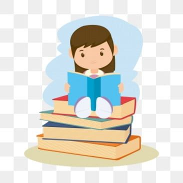 Girl Reading Reading Clipart The Cartoon Girl Png And Vector With Transparent Background For Free Download Kids Reading Books Kids Reading Kids Vector