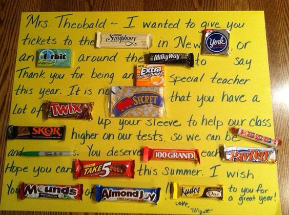 This is a really cute idea for a younger student (K-3) to gift to a teacher for a End Of The Year Gift