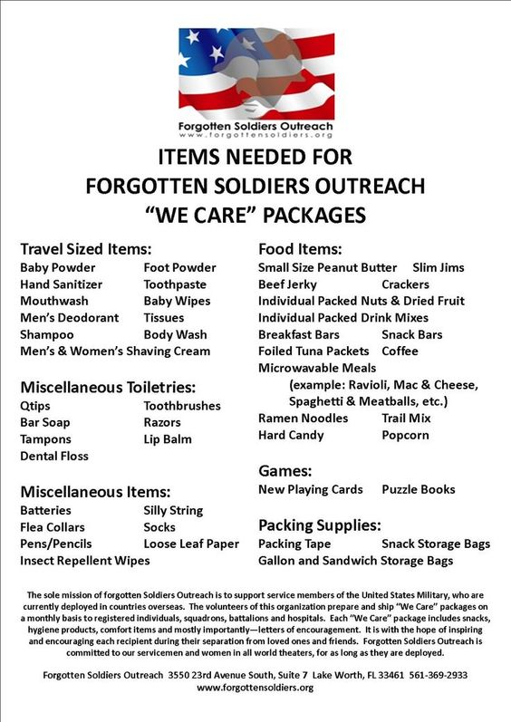 Please send care packages if you are able to, there are ...