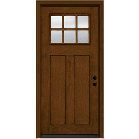 Jeld wen aurora 2 panel insulating core craftsman 6 lite for Jeld wen fiberglass entry door