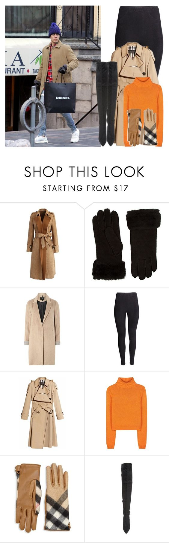 """""""With Justin"""" by angelbrubisc ❤ liked on Polyvore featuring Chicwish, Emu, mel, Justin Bieber, H&M, Burberry, Acne Studios and Kendall + Kylie"""