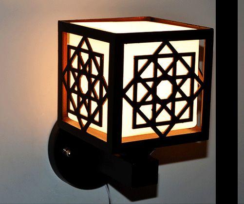 Estilo chino moderno lámpara de pared de cabecera antiguos luces ...