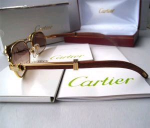 2011 fashional Cartier Sunglasses 538 In Gold With Brown Lens