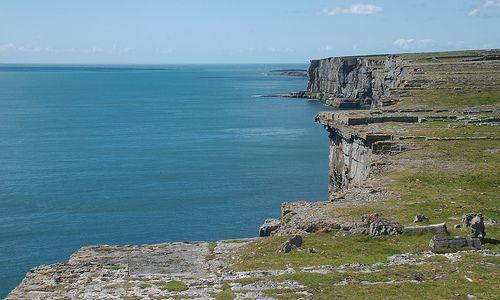 the Aran island cliffs