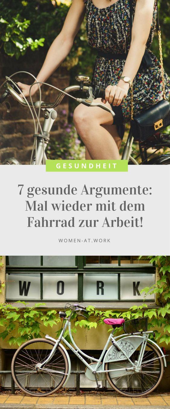 7 gesunde Argumente: Mal wieder mit dem Fahrrad zur Arbeit!