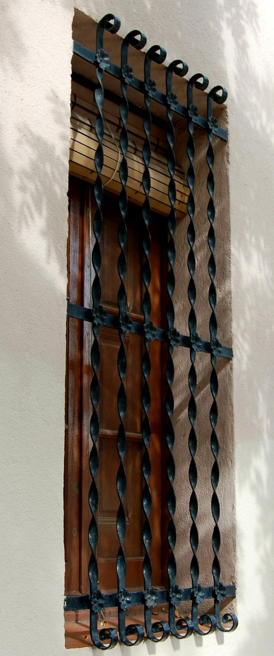 spanish wrought iron window grille home decor. Black Bedroom Furniture Sets. Home Design Ideas