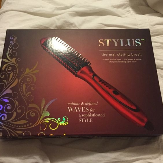 STYLUS thermal styling brush Never been used STYLUS thermal styling brush with teasing comb, 2 hair clips & STYLUS Stay Beautiful light hold hair spray Accessories Hair Accessories