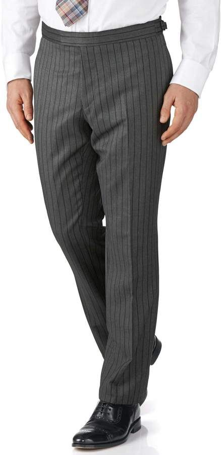 Black Stripe Slim Fit Morning Suit Pants Size 32/34 by Charles Tyrwhitt