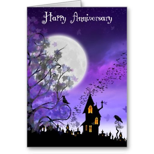 happy halloween anniversary cards