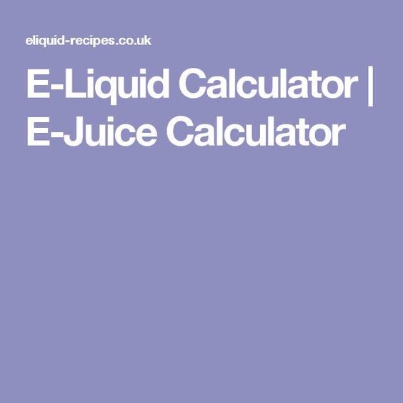 E-Liquid Calculator | E-Juice Calculator