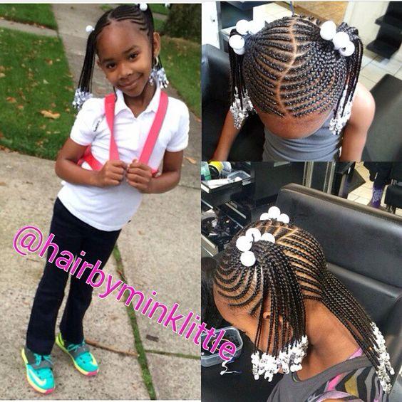 Astonishing Girl Hair Braids Kid Hair And Little Girl Hair On Pinterest Short Hairstyles For Black Women Fulllsitofus