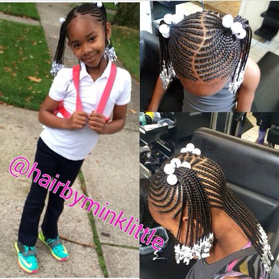 Magnificent Girl Hair Braids Kid Hair And Little Girl Hair On Pinterest Short Hairstyles For Black Women Fulllsitofus