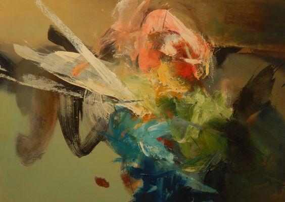 Pintura de Hebert Sanchez, óleo sobre lienzo