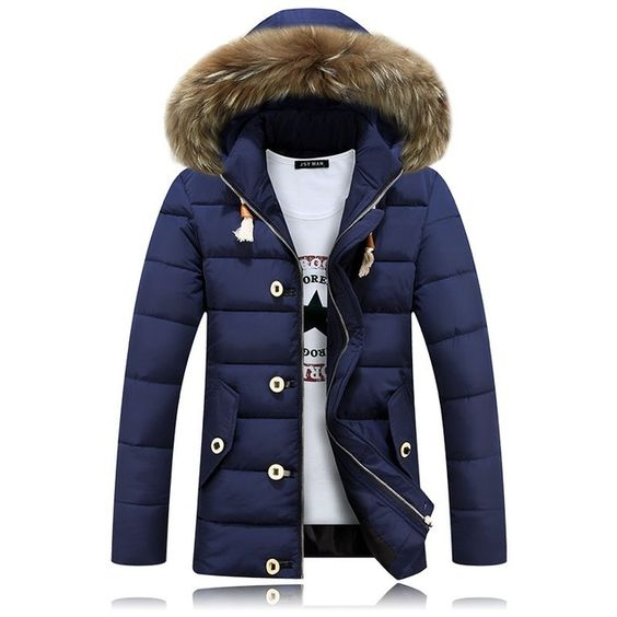 2016 Nueva Moda de Invierno Hombres de la Chaqueta de Algodón Caliente de la Chaqueta de la Cremallera Outwear Parkas Desgaste Masculina Cómoda Gruesa Abrigo Tamaño M-XXXL