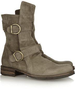 Fiorentini & Baker Eternity suede biker boots on shopstyle.com