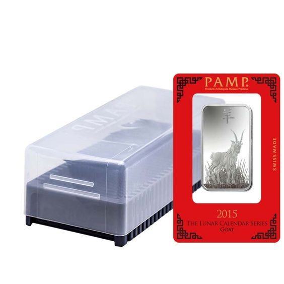 Box Of 25 1 Oz Pamp Suisse Year Of The Goat Silver Bar In Assay Silver Bars Year Of The Dragon Year Of The Snake