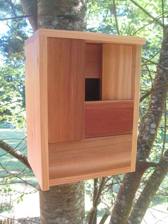 Modern Design Cedar Birdhouse. $69.00, via Etsy.
