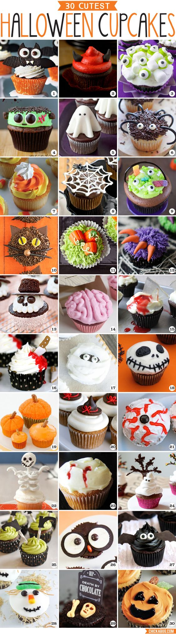 Carrellata di cupcakes tema Halloween #halloweencupcakes: