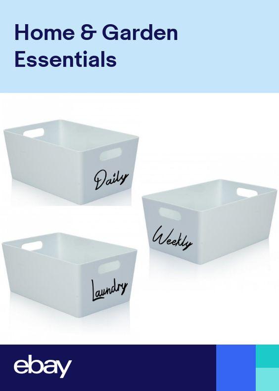 Argos Home Slimline Shaker Unit With Lid White Ebay Bathroom Storage Boxes White Bathroom Shelves Argos Home