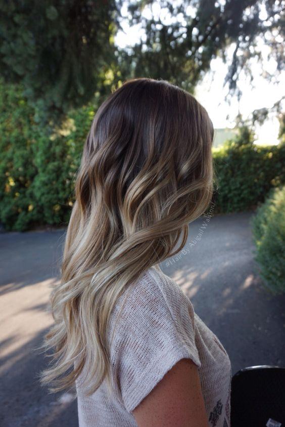 Caramel Beige blonde pearly blonde, brunette balayage ombré, Hair By Abigail Walston, @