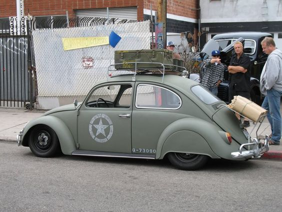 Amry Green, Dropped, Skirted, VW Beetle