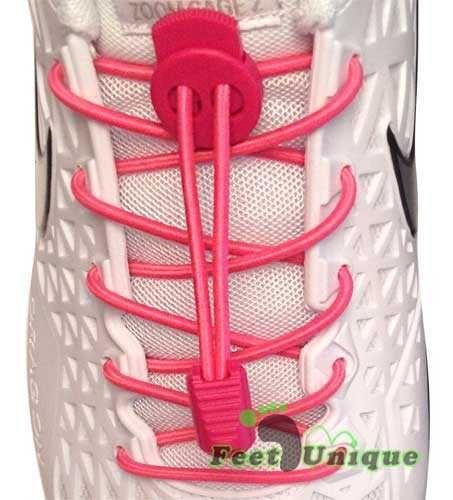 Lacets élastiques 3mm - Rose