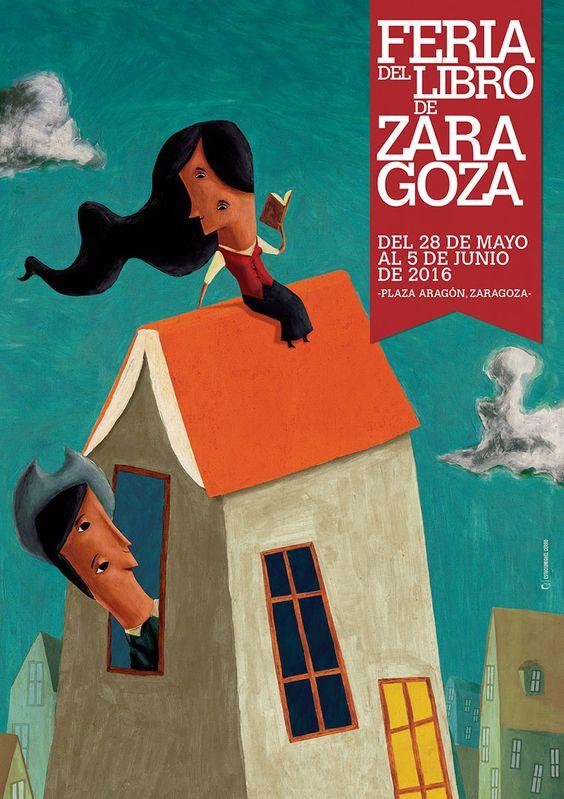 Cartel de la Feria del Libro de Zaragoza 2016: