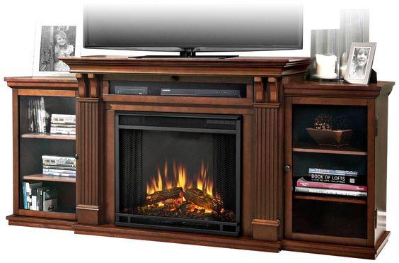real flame ashley entertainment center electric fireplace dark espresso living room. Black Bedroom Furniture Sets. Home Design Ideas