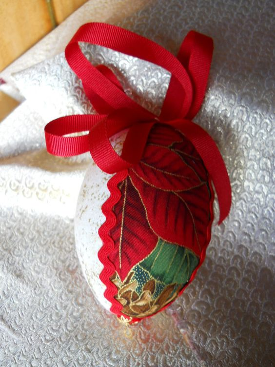 Christmas Tree Fabric 3D Decoration by ComfyCosyCrafts on Etsy, $5.00 #Christmas #fir cone #decoration