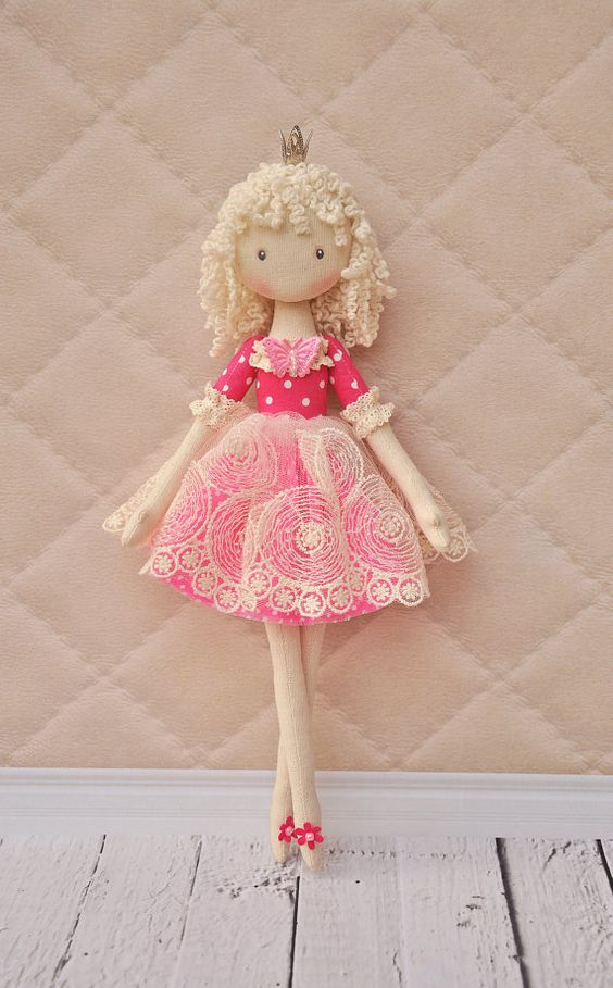 princess dollballerina DollTextile doll decorative by NilaDolss: