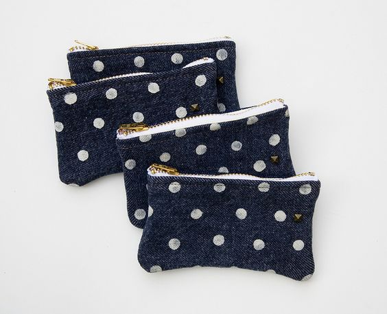 mini polka-dotted pouch / made by hank.
