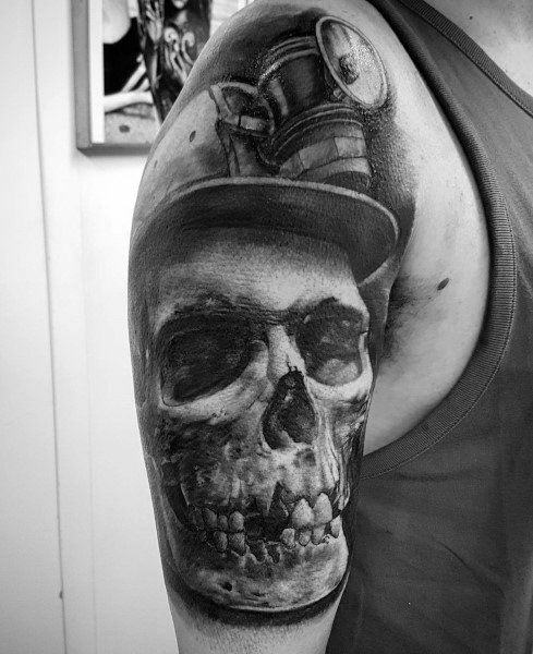 Coal Miner Tattoo : miner, tattoo, Mining, Tattoos, Miner, Design, Ideas, Guys,, Tattoos,