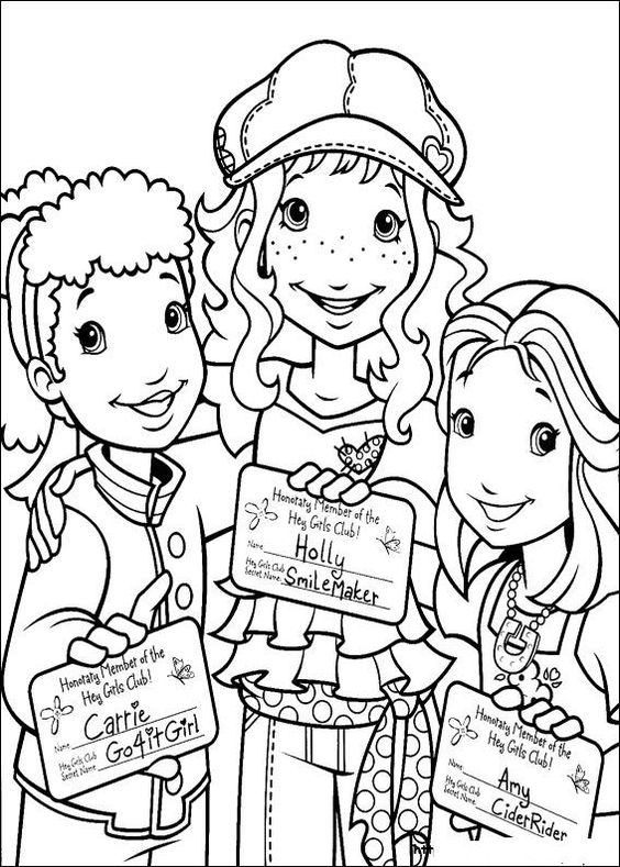 Holly Hobbie and Friends Coloring Page. source: kids-n-fun.com ...