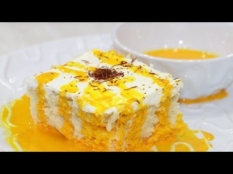 كيكة الحليب بالزعفران سهله ولذيذه وبدون زبده Tres Leches Cake Youtube Desserts Yummy Cakes Food