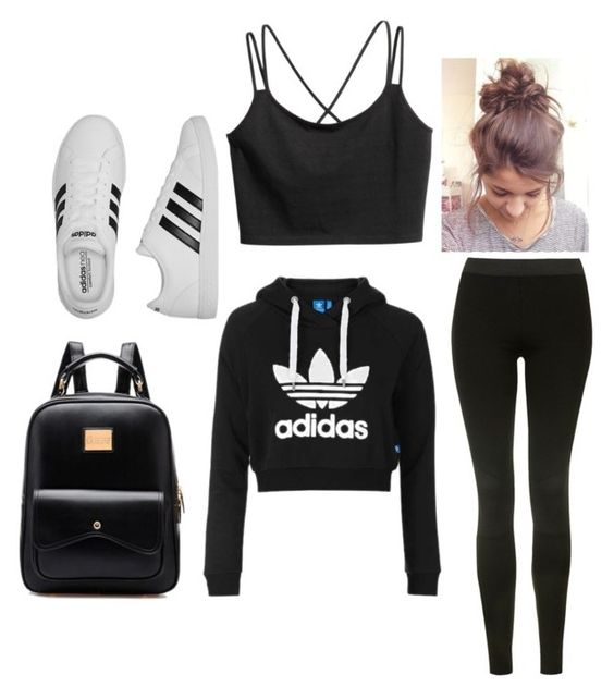 """""""Untitled #7"""" by jessica-cabrera-2 on Polyvore featuring Topshop and adidas"""
