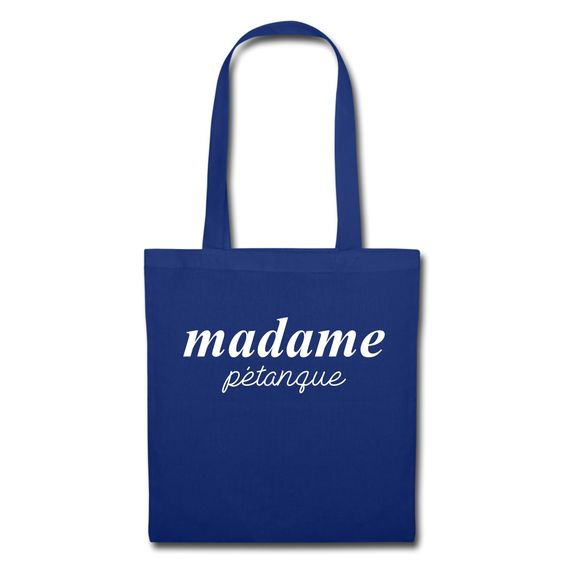 """Shopping Bag - Tote Bag - Collection """"Madame Pétanque"""" #extremeboules #pétanqueextrème #streetpetanque #urbanpetanque #extremebocce #petanque #petanca #jeuxdeboules #boules #bocce #bocceball #beautiful #fashion #pretty #fashionstyle #street #shirt #shopping #styleoftheday #comfortable #outfitideas #outfit #trendystyle #inspiration #unique #menswear #clothes #outfitoftheday #mensfashion #shop #boutique #beauty #streetstyle #streetwear #streetwearfashion #urbanwear #hoodie #tshirt #blue"""