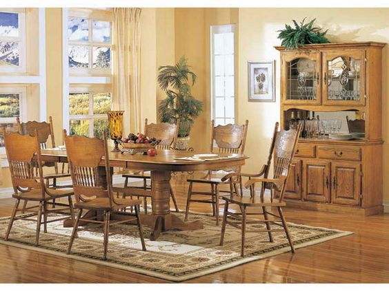 Oak Dining Room Set  How To Go Traditional Elegantly  Modern Entrancing Oak Dining Room Table Review