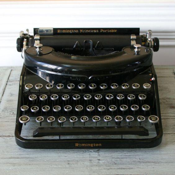Typewriter Black Remington Noiseless Portable by RhapsodyAttic, $250.00