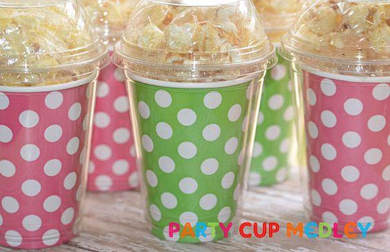 John Deere Birthday Party CupsPolka DotPopcorn by PartyCupMedley, $11.40