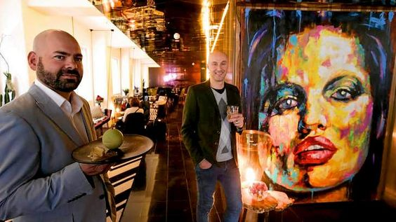 The Adelphi Hotel owner Dion Chandler (left) with designer Fady Hachem in the refurbished boutique hotel.