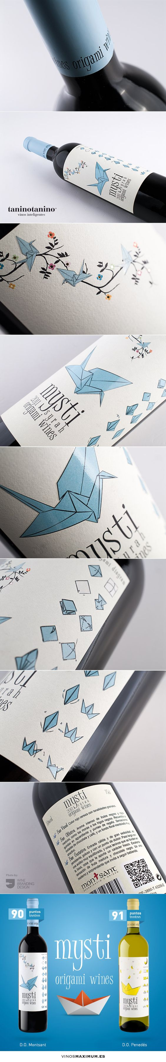origami wines mysti - TANINOTANINO VINOS INTELIGENTES - VINOS MAXIMUM #wine #packaging #design