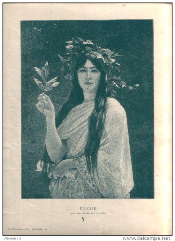 """Poesie - Druck, entnommen   aus """"die Gartenlaube"""", 1897"""
