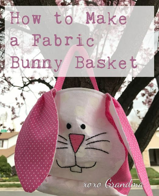Tutorial and pattern: Bunny basket bag:
